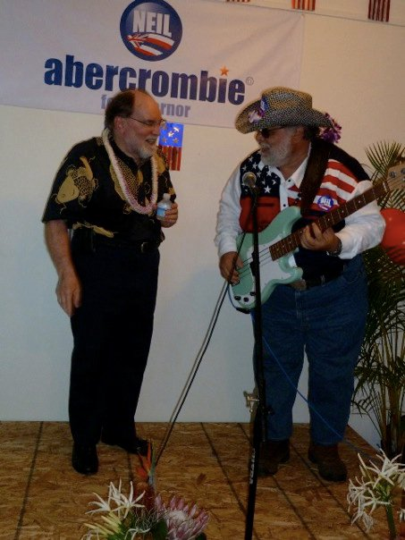 Neil Abercrombie and Jonathan Starr at Maui HQ Grand Opening