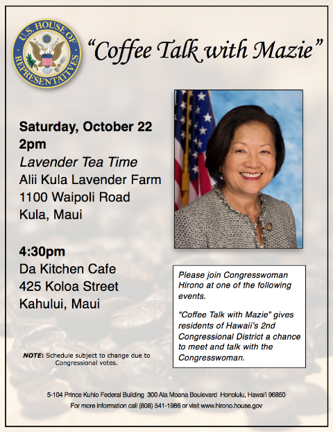 Mazie Hirono on Maui Oct 22, 2011