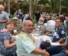 Sen Roz Baker, Rep Gil Keith-Agaran, Sen J Kalani English at the Hi Convention