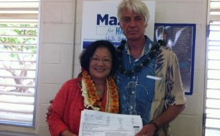 Congresswoman Mazie Hirono and Former Maui County Democratic Chair, Lance Holter